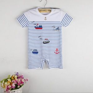 Other - One Piece Baby Boy Sailboat Jumper 6 mth